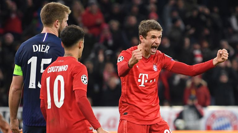 Thomas Muller resored Bayern's advantage just before half-time
