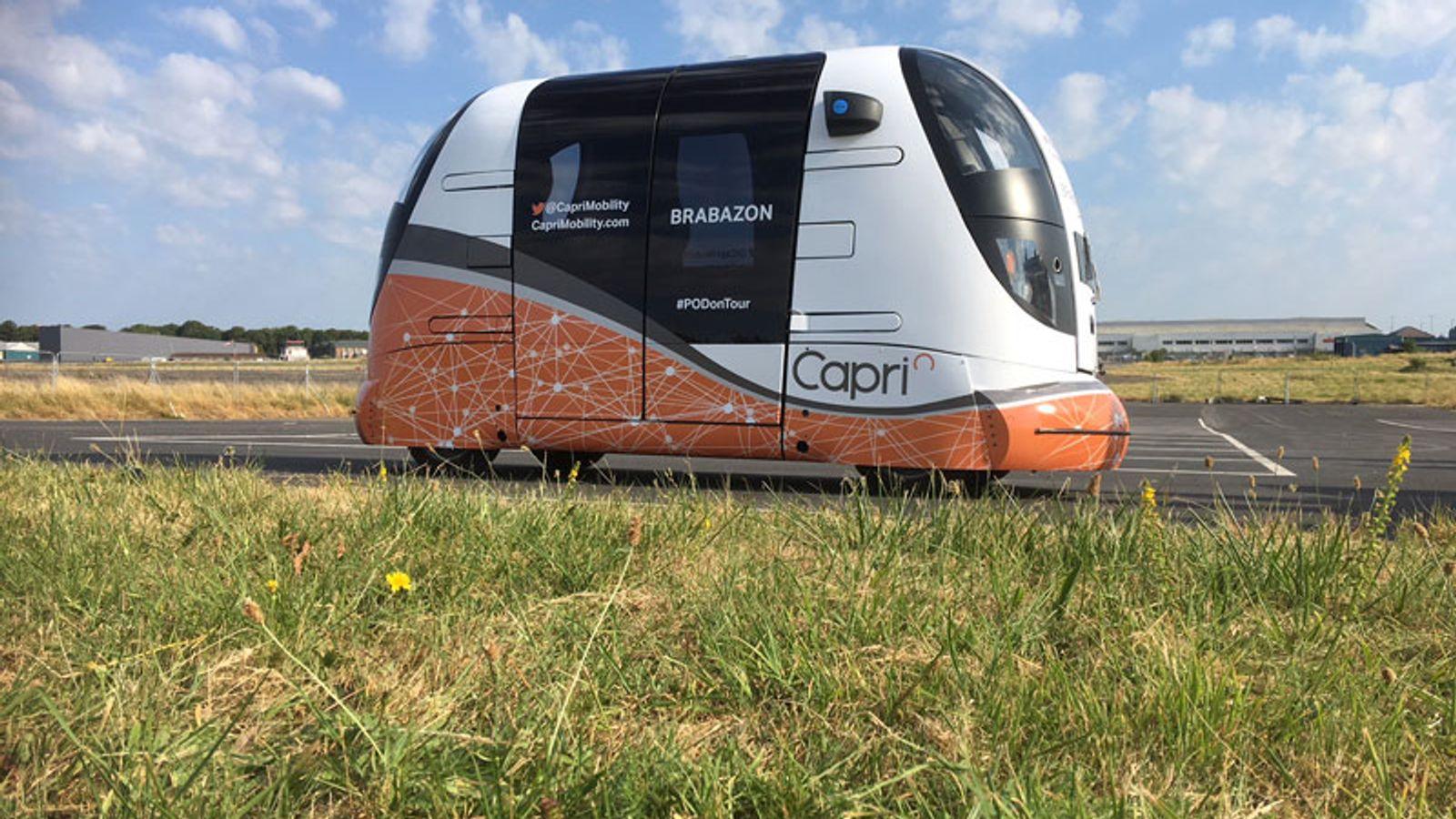 Driverless transport pods begin UK public trials