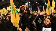Thousands attended to hear the Hezbollah leader promise revenge