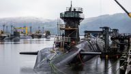 Vanguard-class submarine HMS Vigilant is one of the UK's four nuclear warhead-carrying submarines