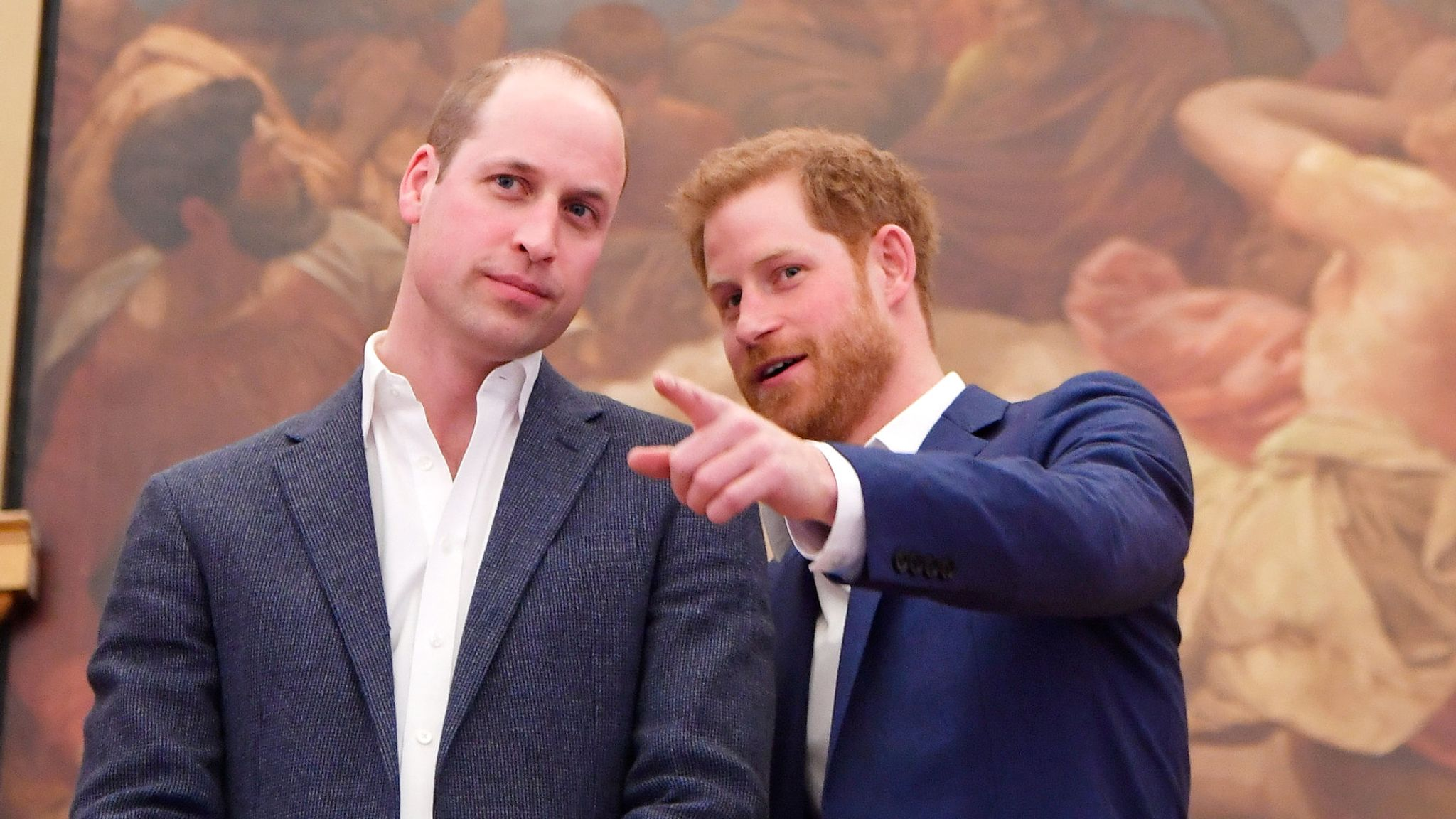 william and harry did not talk for two months over royal departure author claims uk news sky news william and harry did not talk for two