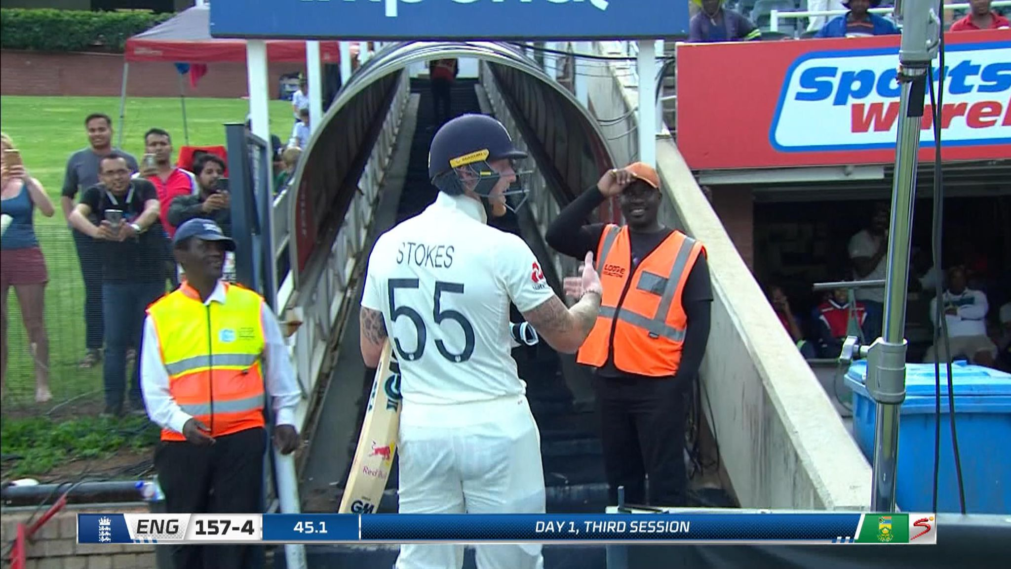 Ben Stokes apologises for shouting abuse at spectator in Johannesburg