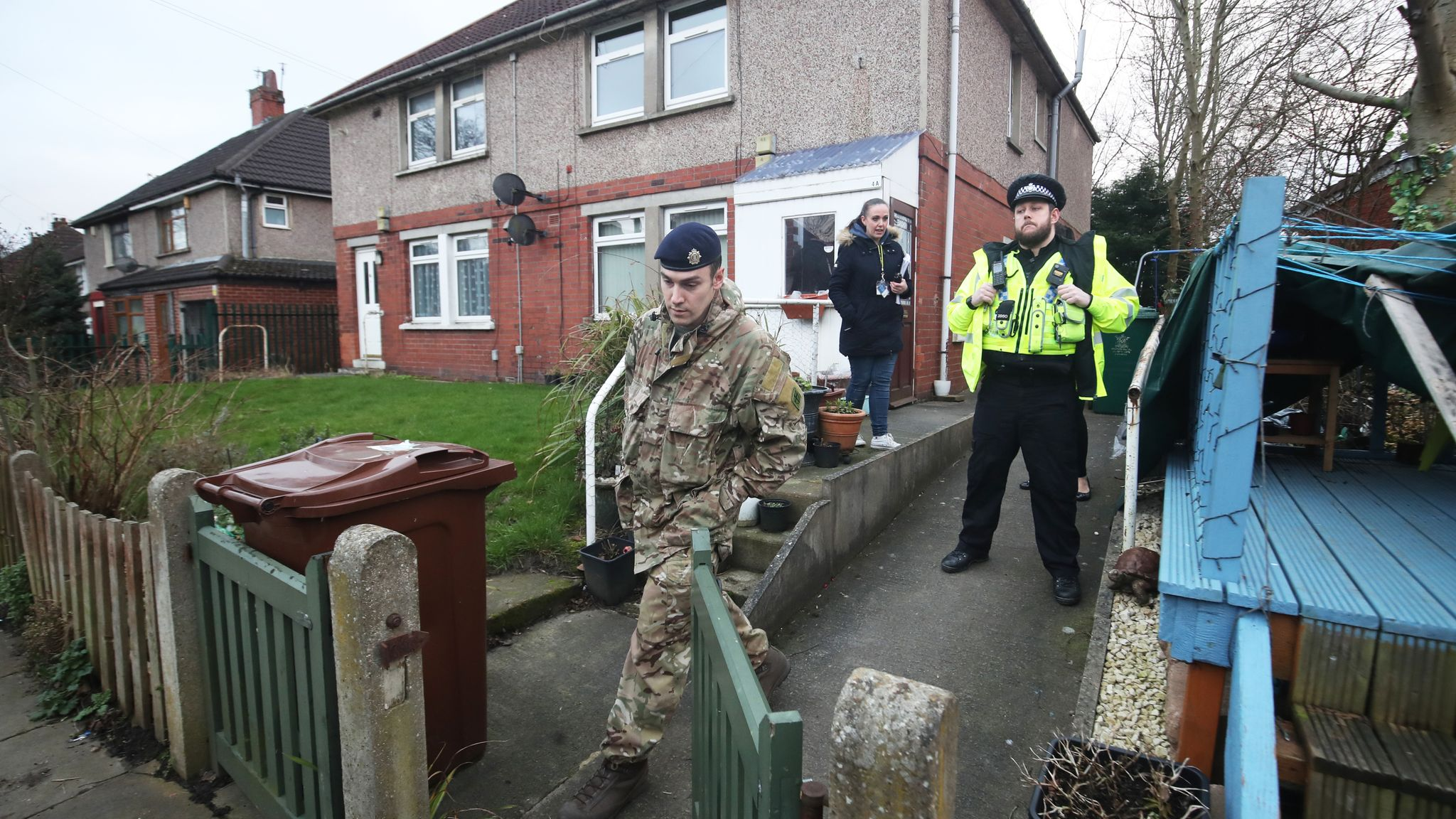 Man arrested after bomb squad searches three homes in Bradford