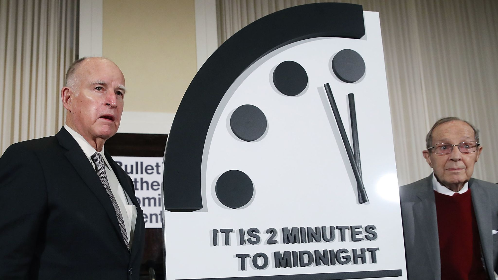 Doomsday clock hits 100 seconds to midnight - closest to catastrophe ever