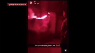Woodward home attacked with flares