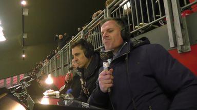 Carra, Nev react to VVD's goal