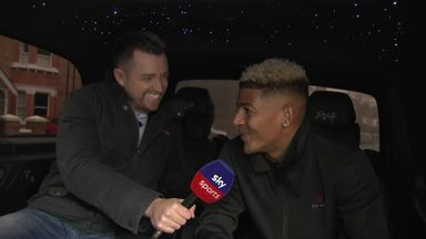 Van Aanholt interviewed in his customised car!