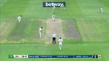 Elgar bowled as SA follow-on