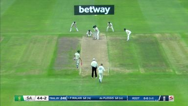 Root traps Malan in-front