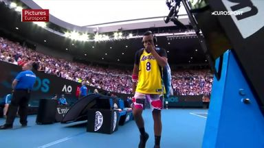 Kyrgios' tribute to Kobe Bryant