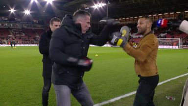 Carra spars with Brook!