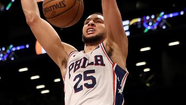 Simmons fires for triple-double in Sixers win