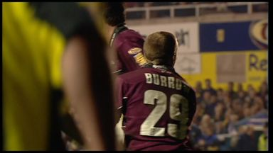 Burrow's first try for Leeds
