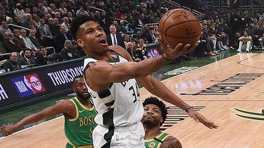 Giannis hangs 32 on Celtics in statement win