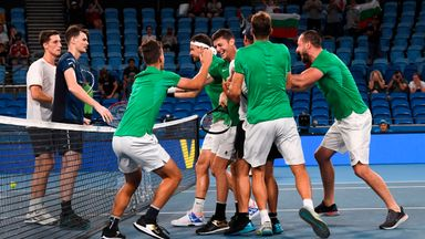 Bulgaria beat Great Britain in ATP Cup