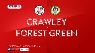 Crawley 1-1 Forest Green