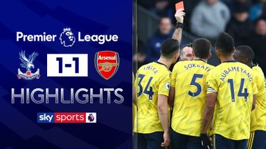 Auba sees red as Palace hold Arsenal