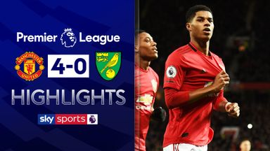 Rashford scores twice as Utd thrash Norwich