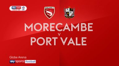 Morecambe 2-1 Port Vale