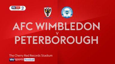 AFC Wimbledon 1-0 Peterborough