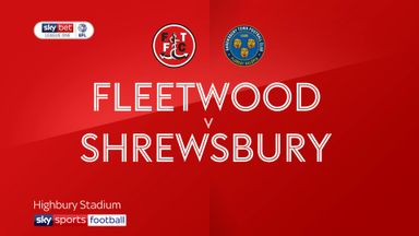 Fleetwood 2-2 Shrewsbury