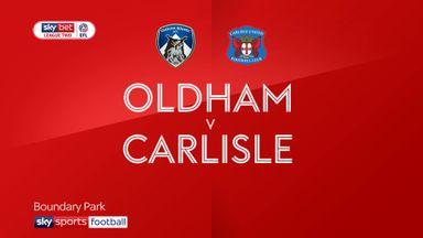 Oldham 1-1 Carlisle