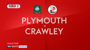 Plymouth 2-2 Crawley
