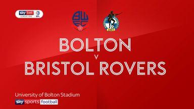 Bolton 1-1 Bristol Rovers