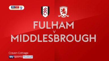 Fulham 1-0 Middlesbrough