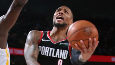 Lillard hits franchise record 61-points