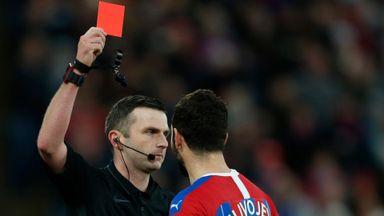 Hodgson: Milivojevic red card was harsh