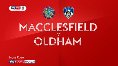 Macclesfield 1-1 Oldham