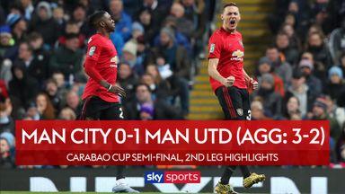 Man City 0-1 Man Utd (Agg: 3-2)