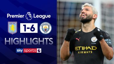 Record-breaker Aguero helps City thrash Villa
