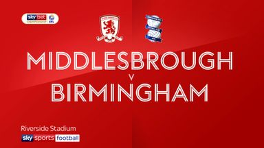 Middlesbrough 1-1 Birmingham