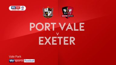 Port Vale 3-1 Exeter