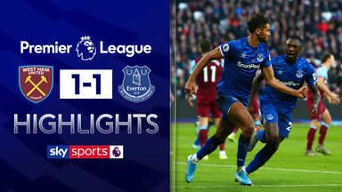 Everton hold West Ham to draw