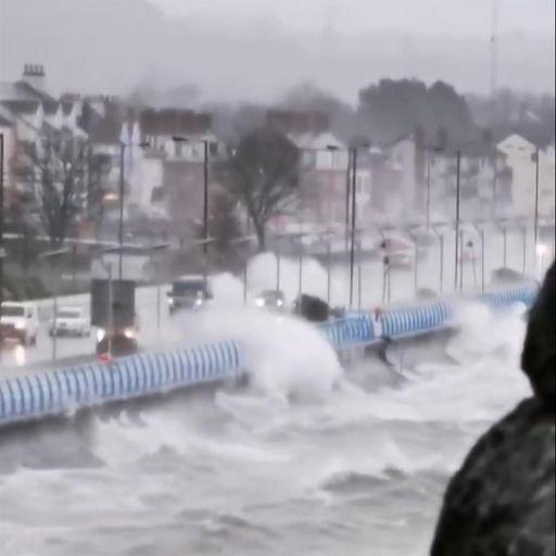 Flights diverted as Storm Brendan brings high winds
