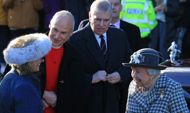 Beaming Queen appears with Prince Andrew after signing off Harry's deal
