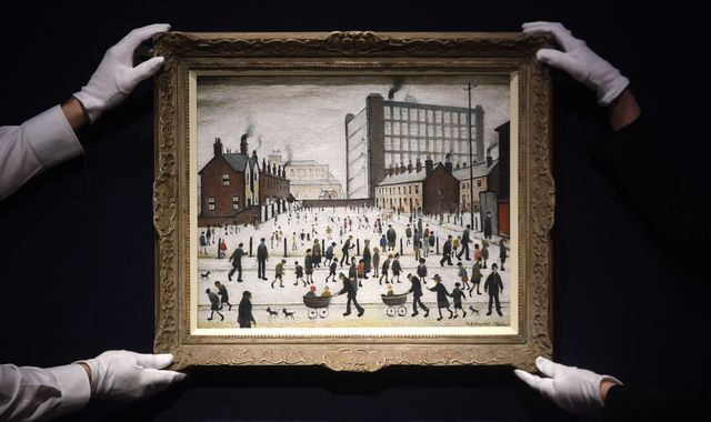 Lowry painting that was found in 2019 sells for £2.6m at auction