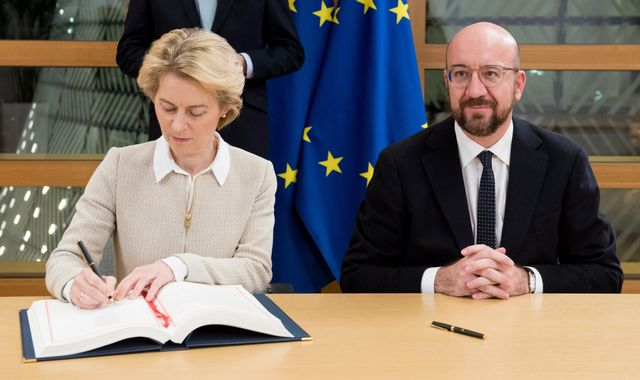 EU's top two leaders sign off on Brexit deal with promise 'our friendship will remain'