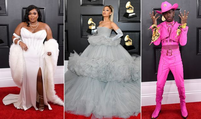 Grammys: Stars' red carpet looks in pictures