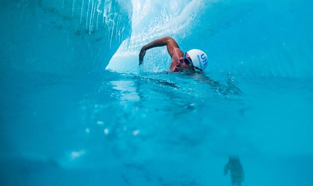 Lewis Pugh becomes first person to swim under Antarctic ice sheet