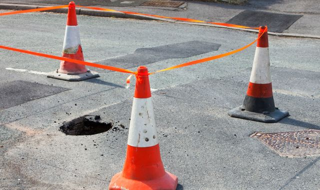 Breakdowns caused by potholes continue to rise as councils struggle to fund repairs