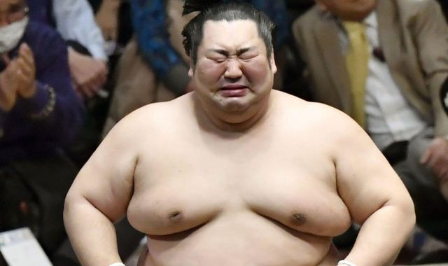 Japan: Lowest-ranked sumo wrestler weeps as he defies odds to win tournament