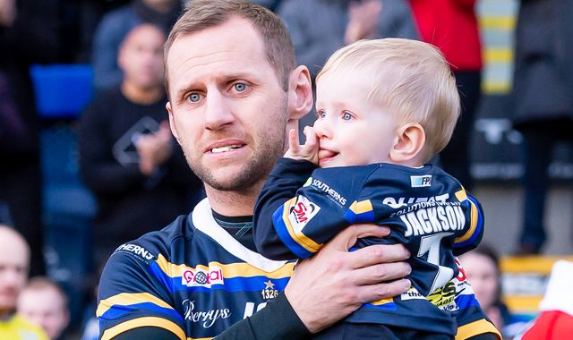 Tearful Rob Burrow treated to standing ovation in Headingley swansong