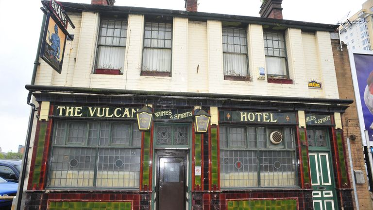 General view of the Vulcan pub in Cardiff which is threatened with closure