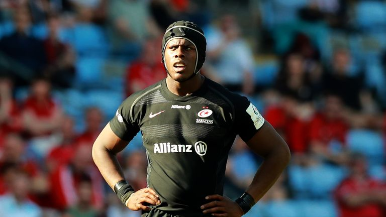 COVENTRY, ENGLAND - APRIL 20: Maro Itoje of Saracens looks on during the Champions Cup Semi Final match between Saracens and Munster at the Ricoh Arena on April 20, 2019 in Coventry, United Kingdom. (Photo by David Rogers/Getty Images)