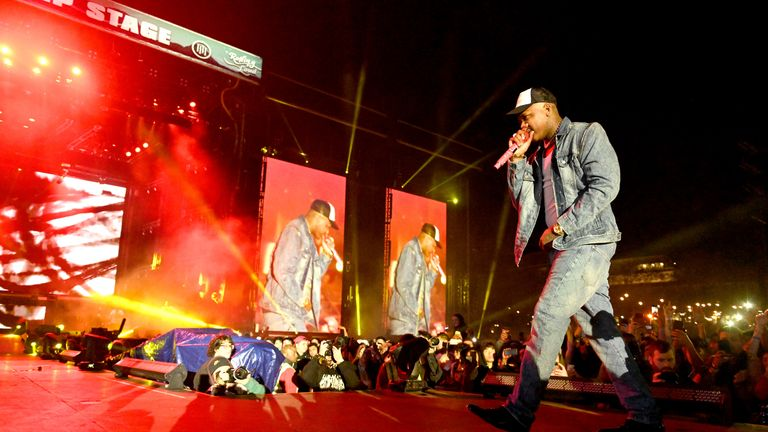 LOS ANGELES, CALIFORNIA - DECEMBER 15: Rapper YG performs onstage during day 2 of the Rolling Loud Festival at Banc of California Stadium on December 15, 2019 in Los Angeles, California. (Photo by Scott Dudelson/Getty Images)
