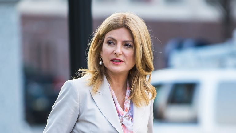 NORRISTOWN, PA - APRIL 11:  Civil rights attorney Lisa Bloom is seen around the Montgomery County Courthouse during  the third day of Bill Cosby's sexual assault charges on April 11, 2018 in Norristown, Pennsylvania. A former Temple University employee alleges that the entertainer drugged and molested her in 2004 at his home in suburban Philadelphia. More than 40 women have accused the 80-year-old entertainer of sexual assault.  (Photo by Gilbert Carrasquillo/Getty Images)